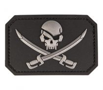 MIL-TEC Pvc skull w.swords 3D patch