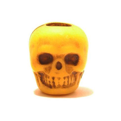 Paracord műgyanta koponya - Sárga