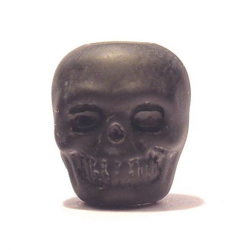 Paracord műgyanta koponya - Fekete
