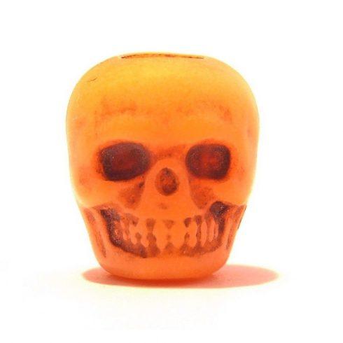 Paracord műgyanta koponya - Narancs