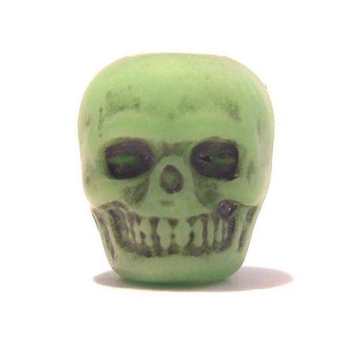 Paracord műgyanta koponya - Zöld
