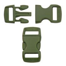 Paracord műanyag csat 10 mm - OD zöld