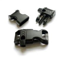 Paracord műanyag sípos csat 14 mm - Fekete
