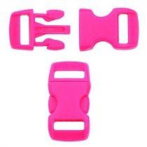 Paracord műanyag csat 10 mm - Hot pink