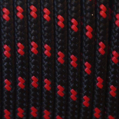 Fonatolt kötél 3 mm - Fekete - piros