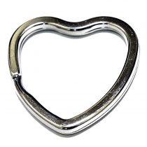 Lapított szív alakú kulcskarika