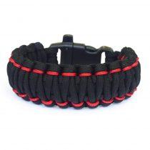 King Cobra Paracord Skin karkötő - Black and Red