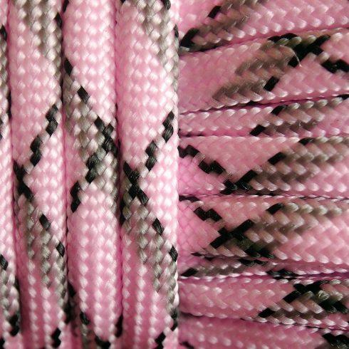 Paracord zsínór - Rózsaszín terep