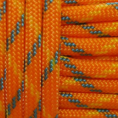 Paracord zsínór - Orange Flash