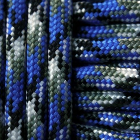 Paracord zsínór - Kék terep