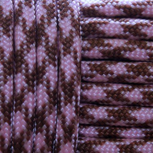 Paracord zsinór - Rózsaszín barna terep
