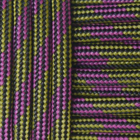 Paracord zsínór - Yellow Purple Black