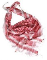 M-TRAMP Shemag - arab kendő - fehér/piros
